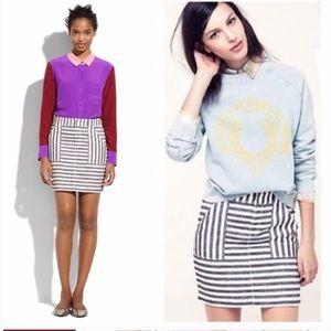 Madewell Broadway & Broome striped linen skirt